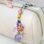 Gemstone Glass Perfum Keychain PN507