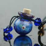 Aromatherapy Necklace made by handblown glass PN337