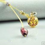 Long aromatherapy necklace with seed beads PN374