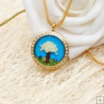 Millefiori Essential Oil Locket Necklace PN471