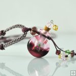 Aromatherapy Jewelry Hand Blown Glass Pendant Gift PN283