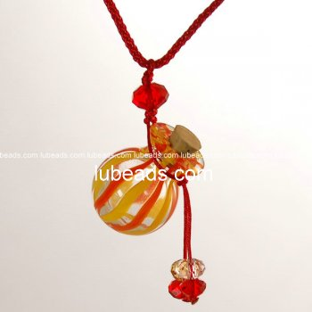 Perfume Necklace Aroma Bottle Pendant Murano Glass Wholesale Gift PN187
