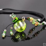 Aroma Bottle Pendant Necklace Murano Glass Handmade Lampwork Gift PN202