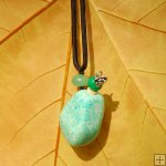 Freeform gemstone necklace for aromatherapy PN432