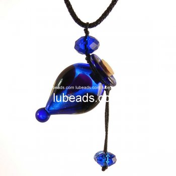 Perfume Necklace Aroma Bottle Pendant Murano Glass Wholesale Gift PN179