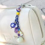 Gemstone Glass Perfum Keychain PN509