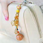 Gemstone Glass Perfum Keychain PN519
