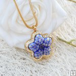 Millefiori Essential Oil Locket Necklace PN470