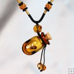 Aromatherapy Jewelry Hand Blown Glass Pendant Gift PN079