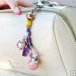 Gemstone Glass Perfum Keychain PN508