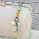 Gemstone Glass Perfum Keychain PN506