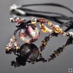 Aroma Bottle Pendant Necklace Murano Glass Handmade Lampwork Gift PN201