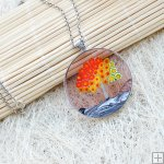 Murano Millefiori Glass Necklace with Sterling Silver PN540