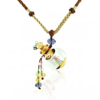 Aromatherapy Jewelry Necklace Hand Blown Glass Pendant Gift PN279