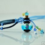 Aromatherapy Jewelry Necklace Hand Blown Glass Pendant Gift PN275