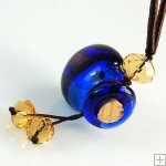 Aromatherapy Jewelry Necklace Aroma Bottle Pendant Murano Glass Gift PN196