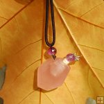 Freeform gemstone necklace for aromatherapy PN426