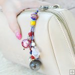 Gemstone Glass Perfum Keychain PN512