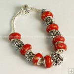 Pandora Bracelet with silver plated charm P112,Sold per piece