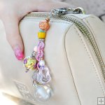 Gemstone Glass Perfum Keychain PN517