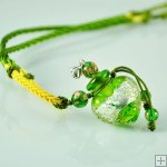 Aromatherapy Jewelry Necklace Hand Blown Glass Pendant Gift PN343