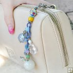 Gemstone Glass Perfum Keychain PN516