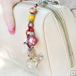 Gemstone Glass Perfum Keychain PN515