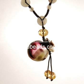 Perfume Necklace Aroma Bottle Pendant Murano Glass Wholesale Gift PN145