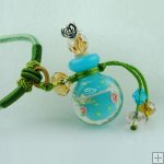 Aroma Bottle Pendant Necklace Murano Glass Handmade Lampwork Gift PN232
