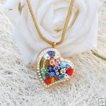Millefiori Essential Oil Locket Necklace PN468