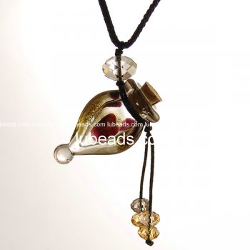 Perfume Necklace Aroma Bottle Pendant Murano Glass Wholesale Gift PN189