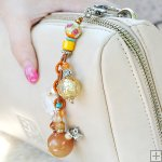 Gemstone Glass Perfum Keychain PN514