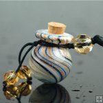 Aromatherapy Necklace made by handblown glass PN338