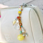 Gemstone Glass Perfum Keychain PN510