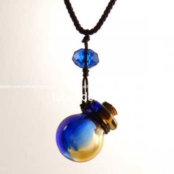 Perfume Necklace Aroma Bottle Pendant Murano Glass Wholesale Gift PN144