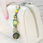Gemstone Glass Perfum Keychain PN513